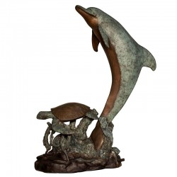 Bronze Dolphin & Sea Turtle...