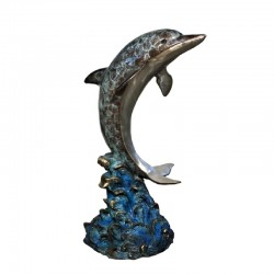 Bronze Dolphin Fountain Sculpture