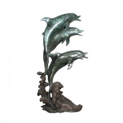 Bronze Five Dolphins Fountain Sculpture