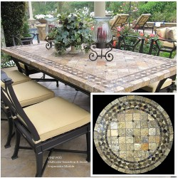 Vineyard Mosaic Table Top - Shown in Outside Setting