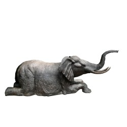 Bronze Kneeling Elephant Fountain Sculpture