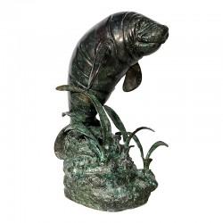 Bronze Manatee Fountain Sculpture