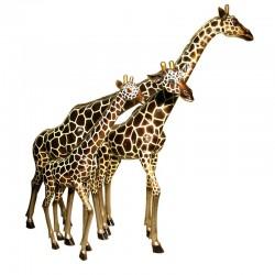 Bronze Giraffe Family...