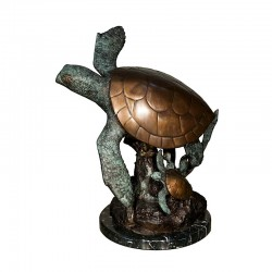 Bronze Sea Turtle Fountain Sculpture