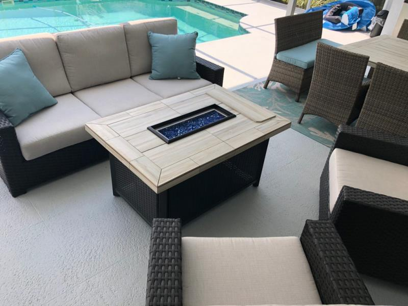 Stone Tile Fire Pits