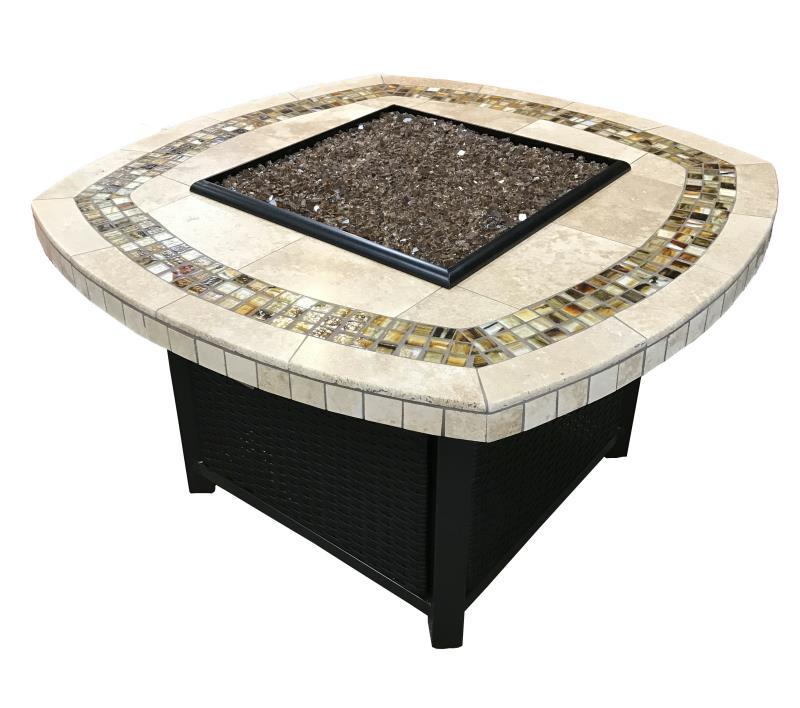Marquesa Stone Tile Fire Pit