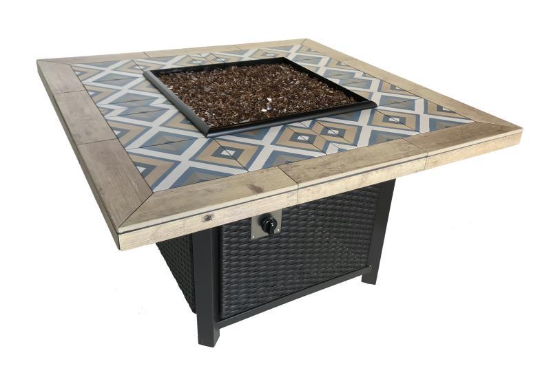 Custom Stone Tile Fire Pit