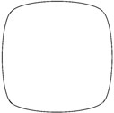 Round-Square Mosaic Table Shape