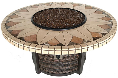 Sunflower Mosaic Fire Pit