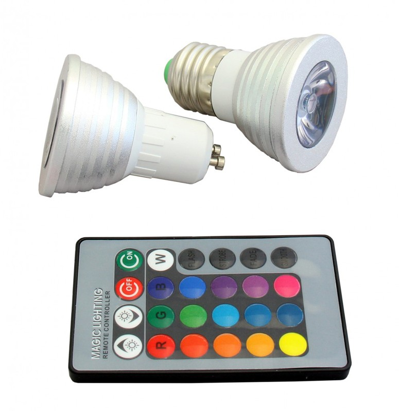 LED Colored Programmable Lights with Remote