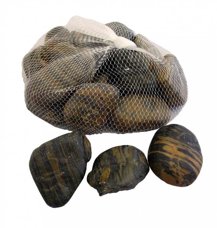 Striped Polished Pebbles - 2 Bag