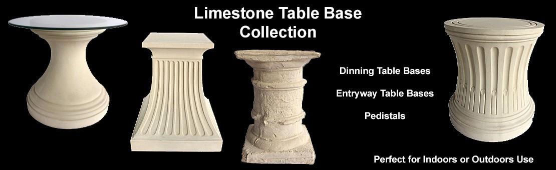 Limestone Table Bases