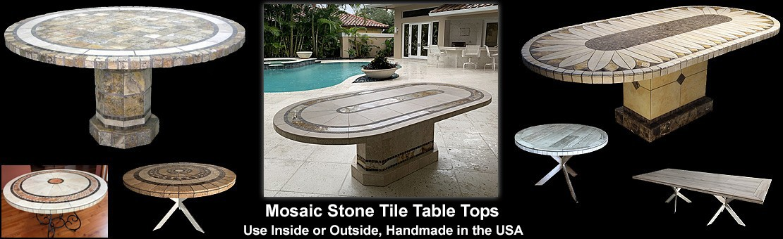 Mosaic Stone Tile Table Tops
